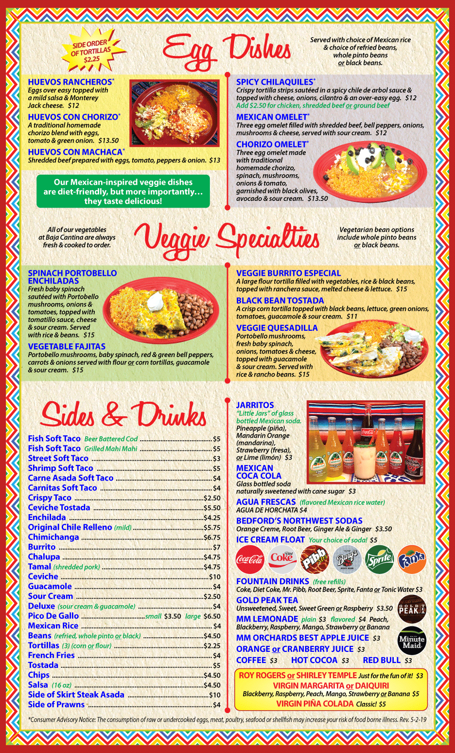 Baja Cantina Sequim Menu